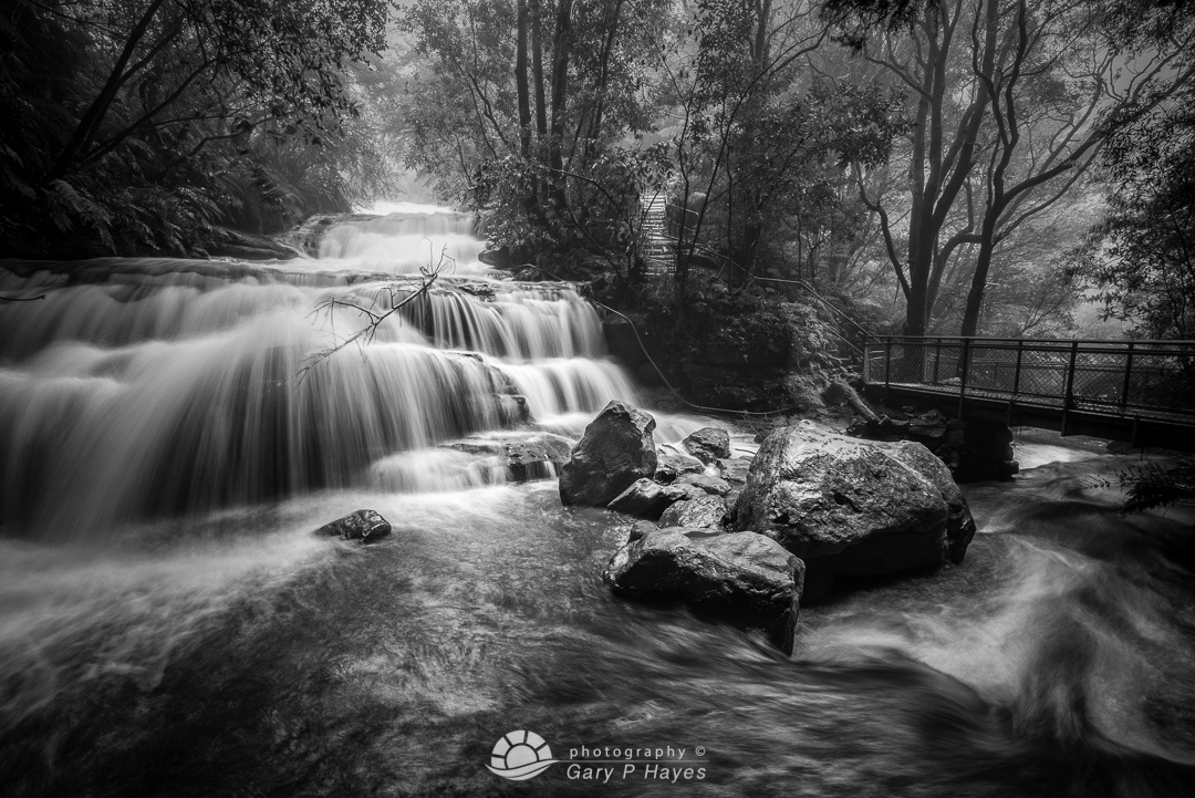 Lower Leura Falls in Flood