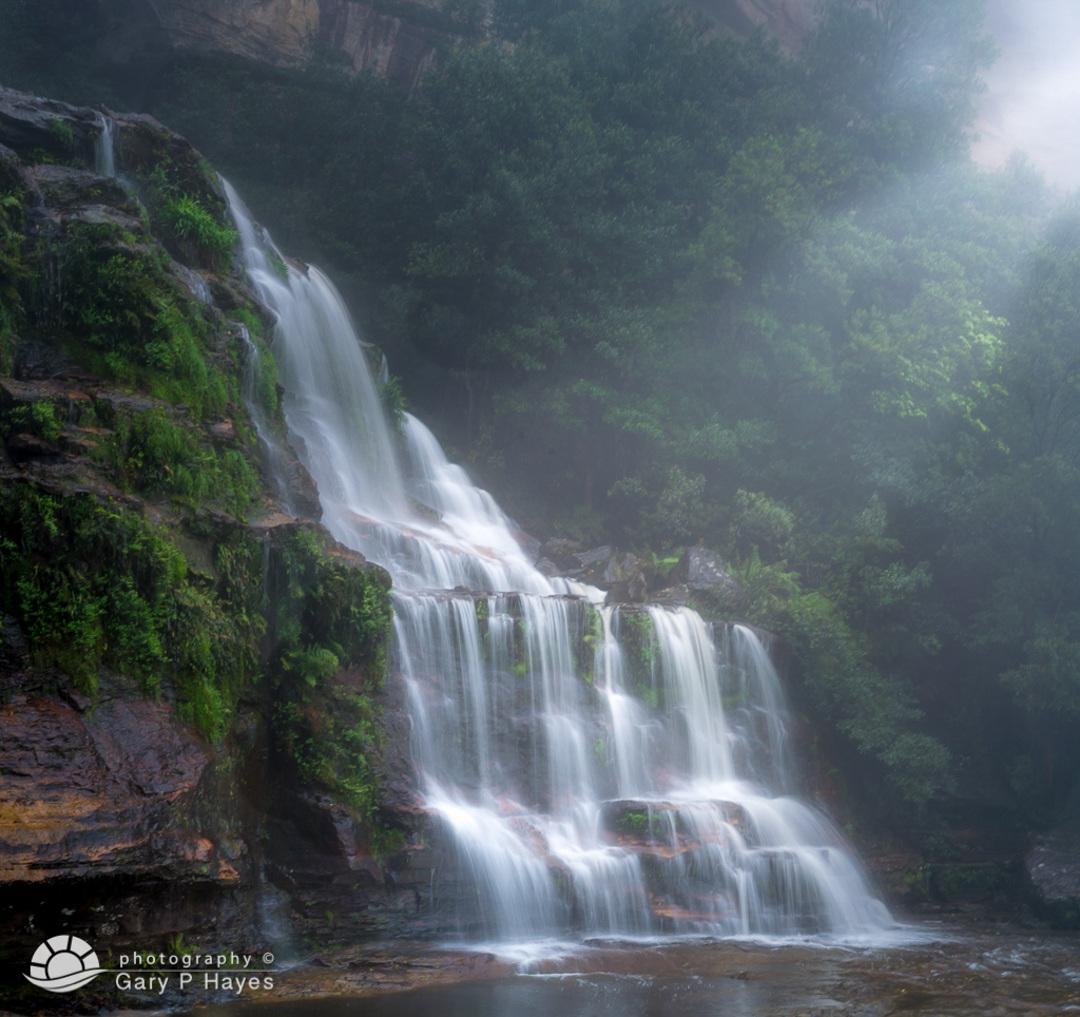 Misty Mid Katoomba Falls V