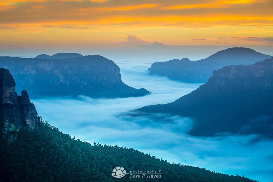 Blue River of Mist