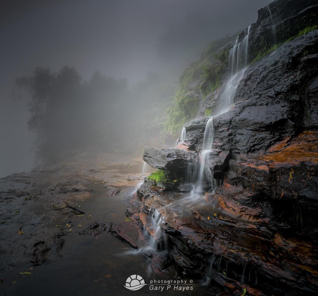 Mid Katoomba Falls Fog