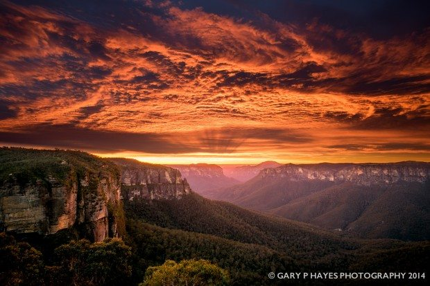 Govetts Leap Sunrise Wow