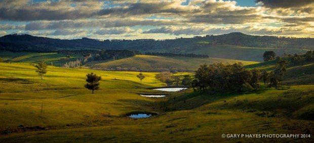 A wonderful European like landscape near Hampton on the Oberon plateau