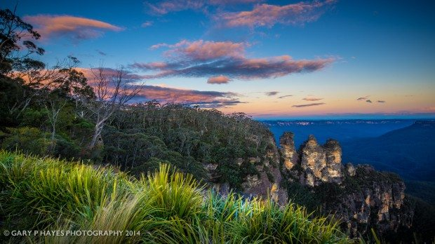 The iconic Three Sisters sunset from a slightly different angle