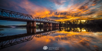 Penrith Rail Bridge Reflections